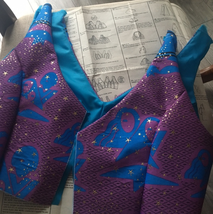 Bodice, during construction